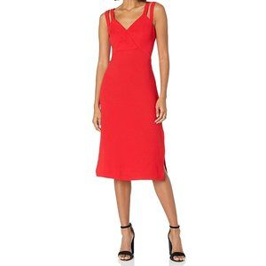 BCBGeneration Red Column Double Strap Dress NWT 10